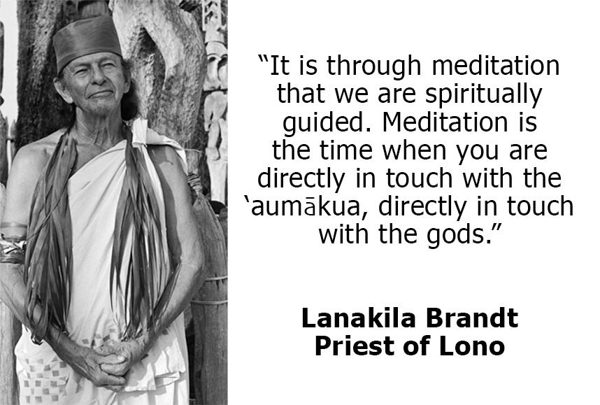 Through meditation we reach the aumakua.